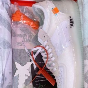 Off-white Air Force 1s.